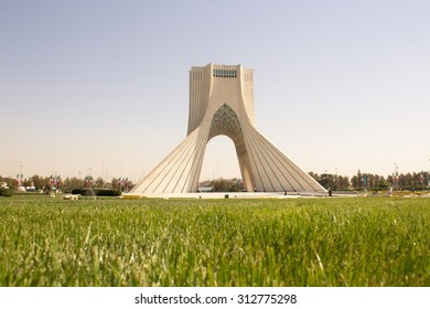 Tehran, Iran â?? October 1, 2013: Azadi Tower in the Iranian capital Tehran