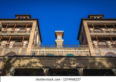 Tehran, Iran - October 15, 2016: Building called Edifice of Sun in Golestan Palace, one of the oldest historic monuments in the city of Tehran