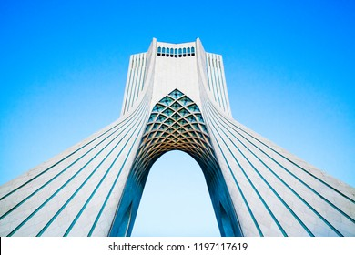 TEHRAN, IRAN – September 28, 2017: Azadi Tower (Freedom Tower) formerly known as Shahyad Tower (King's Memorial Tower) in Azadi Square, commissioned by Mohammad Reza Pahlavi, the last Shah of Iran.