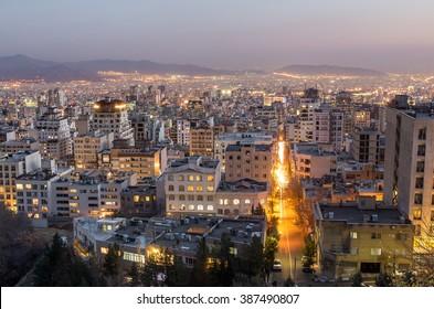 Tehran at night, Tehran, Iran