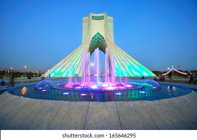 TEHRAN - OCTOBER 18: Azadi Tower on October 18, 2013 in Tehran. Azadi Tower was constructed in 1972 and is 45 meters high.