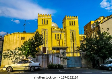 Tehran Saint Joseph Catholic Church of Assyrian with Closed Gate