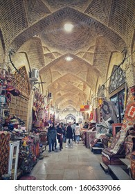 Tehran,Iran - December 28, 2019 : Tehran's Grand Bazaar in the market have a wide selection of products such as crockery,carpet,accessories and spices etc.