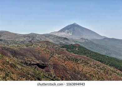Teide landscape from far away