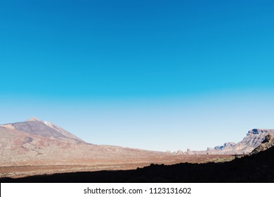 Teide mountain with gradient of sky