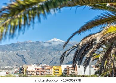 Teide mountain top - view from Las Galletas on Tenerife