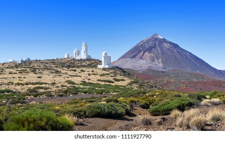 Teide Observatory with Teide in the national park of Tenerife, Canary Islands, Spain