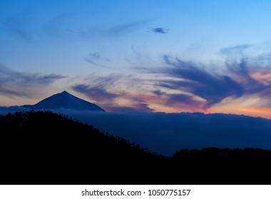 Teide Peak at sunset, Tenerife Island, Canary Islands, Spain