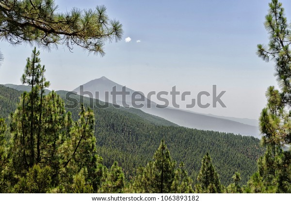 Teide volcano view from north