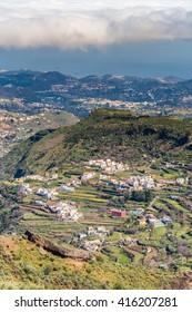 Tejeda Village From Cruz de Tejeda Viewpoint - Tejeda, Gran Canaria, Canary Islands, Spain