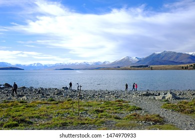 TEKAPO, NEW ZEALAND - MAY 10, 2014: Beautiful surrounding view at Lake Tekapo in New Zealand south's island.