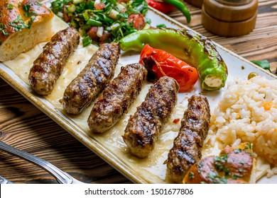 Tekirda Turkish cuisine on wooden table
