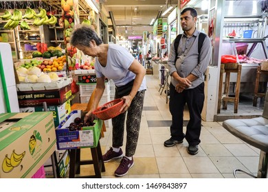 Tekka Market / Singapore - August 4th 2019: Tekka Market is one of the oldest wet market in Little India where it offer the cheapest groceries.