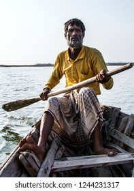 Teknaf, Bangladesh - Apr 28 2018: Boatman portrait