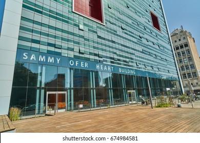 Tel Aviv - 10.02.2017: Ihilov medical center in Tel Aviv, building exterior