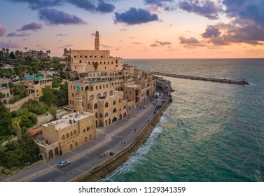 Tel Aviv, Israel - 10 April, 2018: A view of Jaffa Old City Port.
