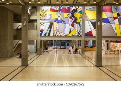 Tel Aviv, Israel - 13 MAY 2018: museum of modern art interior