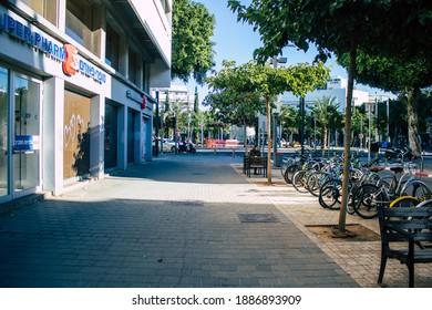 Tel Aviv Israel December 28, 2020 View of unidentified Israeli people walking in the streets of Tel Aviv during lockdown and Coronavirus outbreak hitting Israel