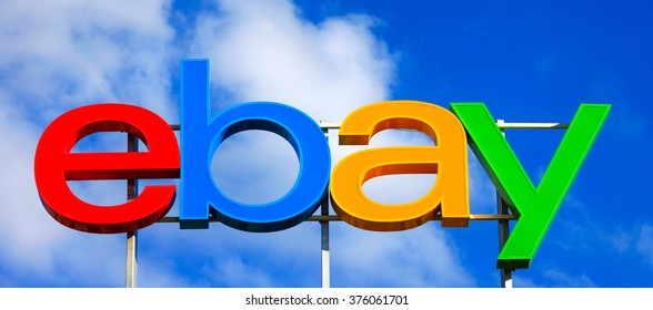 Tel Aviv, Israel - February 11, 2016: Ebay logo, ebay is an American multinational corporation and e-commerce company, providing consumer-to-consumer and business-to-consumer sales services.