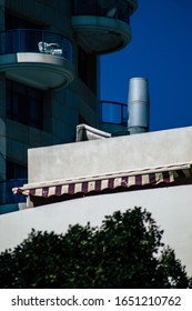 Tel Aviv Israel February 20, 2020 View of the facade of a modern building in the streets of Tel Aviv in the afternoon