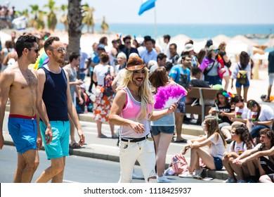 TEL AVIV, ISRAEL- JUNE 8, 2018: Gay Pride Parade in Tel Aviv, Israel