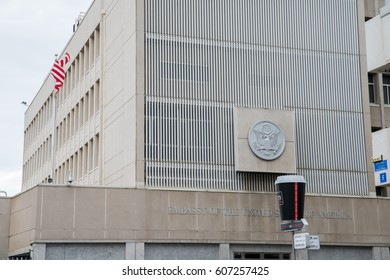 Tel Aviv, Israel - March 3rd, 2017: Discussions to relocate the US Embassy from Tel Aviv to Jerusalem, which is seen as a provocative move by many as the city is claimed by Israelis and Palestinians