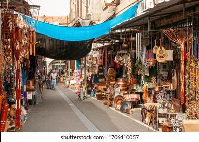 TEL AVIV, ISRAEL - MARCH 5, 2009: Flea market in Jaffa