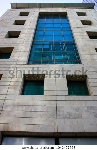 Tel Aviv Israel March 8-2018 View of a building in Metazada street Tel aviv city
