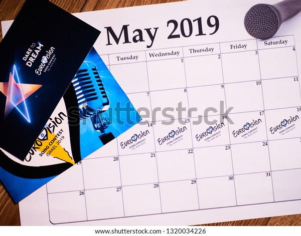 Tel Aviv Israel May 2019 Schedule Stock Photo (Edit Now