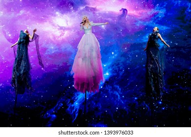 Tel Aviv, Israel – MAY 9, 2019: Kate Miller-Heidke, representing Australia, rehearsing the song Zero gravity for the first semi-final at the Eurovision song contest 2019.