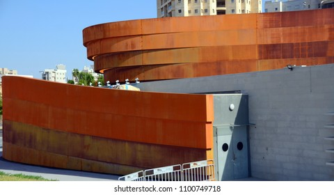 TEL AVIV ISRAEL NOV. 06 2016: Design Museum Holon is museum in Israel. The building of the museum was planned and designed by Israeli architect and industrial designer Ron Arad an Bruno Asa.