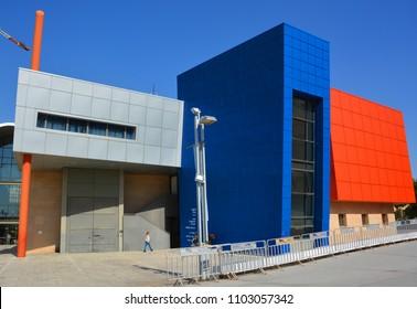 TEL AVIV ISRAEL NOV 06 2016: Holon Mediatheque is a cultural hub, comprising 5 exciting institutions: Holon Cinematheque, design Museum, Cartoon Museum, Mediatheque Theatre, Mediatheque Public Library