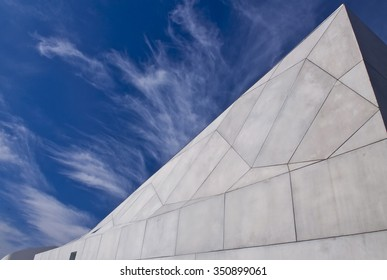 TEL AVIV, ISRAEL - NOV 10 : Exterior of the new wing of the Tel Aviv Museum of Art in Tel Aviv, Israel on November 10 2011. The new wing houses 18,500 square feet of gallery space over five floors