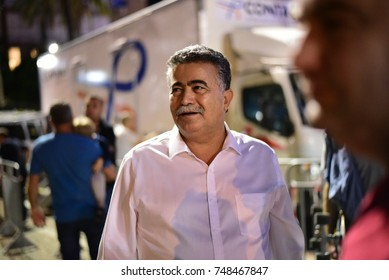 TEL AVIV, ISRAEL - November 04 2017: MK Amir Peretz attending a rally marking 22 years since the assassination of former prime minister of Israel Yitzhak Rabin at Rabin Square in Tel Aviv