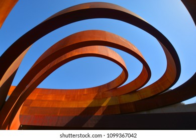 TEL AVIV ISRAEL NOVEMBER 06 2016: Design Museum Holon is museum in Israel. The building of the museum was planned and designed by Israeli architect and industrial designer Ron Arad an Bruno Asa.