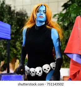 TEL AVIV, ISRAEL - October 10 2017: Cosplayers attending Icon festival