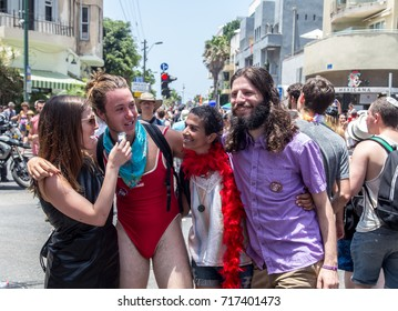 TEL AVIV ISRAEL-JUNE 09,2017:Gay parade in Tel Aviv