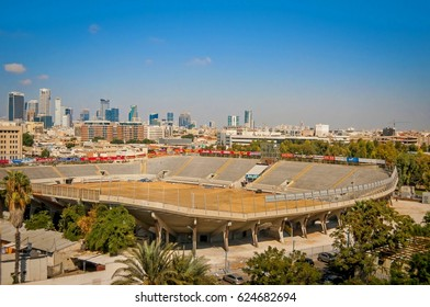 TEL AVIV - JAFFA, ISRAEL. September 9, 2016. Bloomfield stadium in Jaffa, the home stadium of Maccabi Tel Aviv, Hapoel Tel Aviv and Bnei Yehuda Tel Aviv.