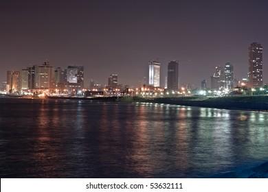 Tel Aviv - night view from Jaffa
