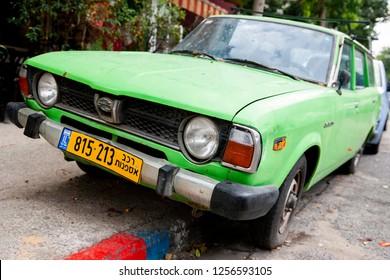 Tel Aviv/Israel November 18, 2018  1978 Subaru GL Wagon