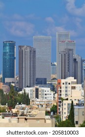 TEL AVIV,ISRAEL-July 19:Skyline on July 19,2014 in Tel Aviv.The second most populous city and the largest metropolitan in Israel with population of 410,000.