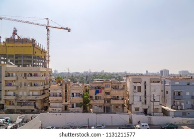 Tel Aviv-Yafo, Israel - June 9, 2018: Generic architecture and cityscape from Tel Aviv, Modern and old buildings in the central streets of Tel Aviv-Yafo, Israel.