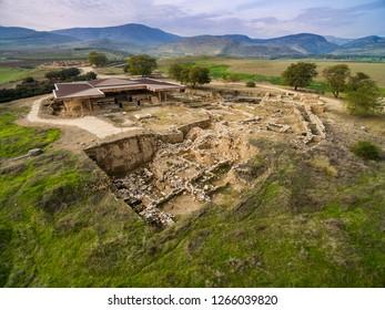Tel Hatzor - the ruins of biblical Canaanite city in Northern Israel