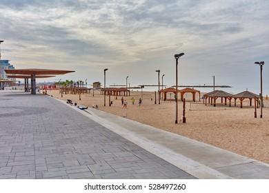 Tel-Aviv - 20 November, 2016: Tel Aviv new promenade after repair