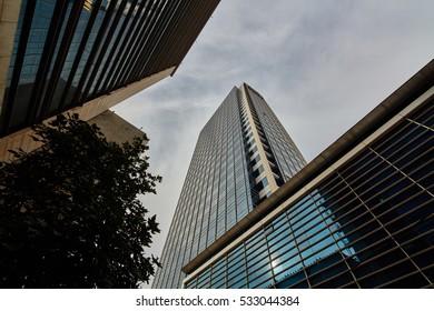 Tel-Aviv - 4 December, 2016: Tel Aviv buildings, city center