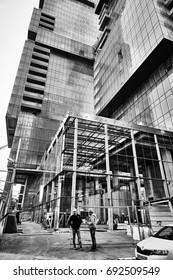 Tel-Aviv - 9 December, 2016: Tall buildings in Tel Aviv city center.