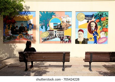 TEL-AVIV, ISRAEL - APRIL 3, 2016: Historic Neve Tzedek neighborhood, Tel-Aviv, Israel.