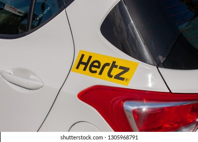 TEL-AVIV, ISRAEL - NOVEMBER 01, 2016: Hyundai i10 of Hertz close-up. The Hertz Corporation is an American car rental company based in Estero, Florida.
