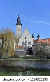 Telc castle during early spring time, Czech Republic