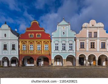 Telc cityscape in Czech Republic - travel and architecture background